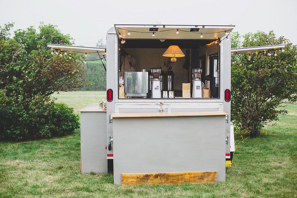Chilmark Coffee Co. coffee truck at wedding reception in Martha's Vineyard | cassiecastellaw.com