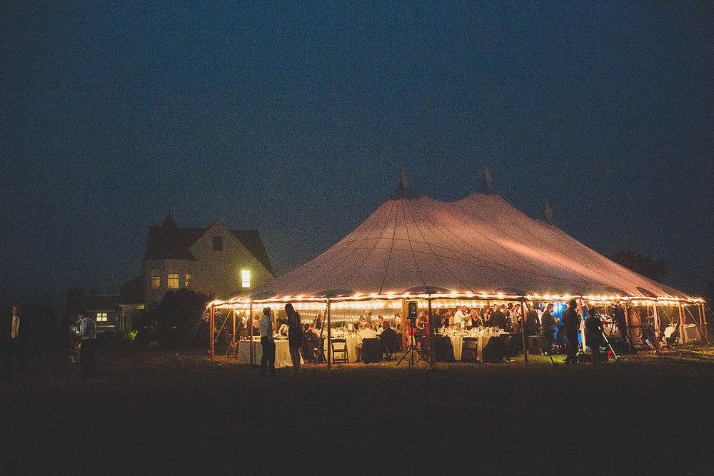 Big Sky Tent Rental Chilmark Martha's Vineyard wedding reception | cassiecastellaw.com