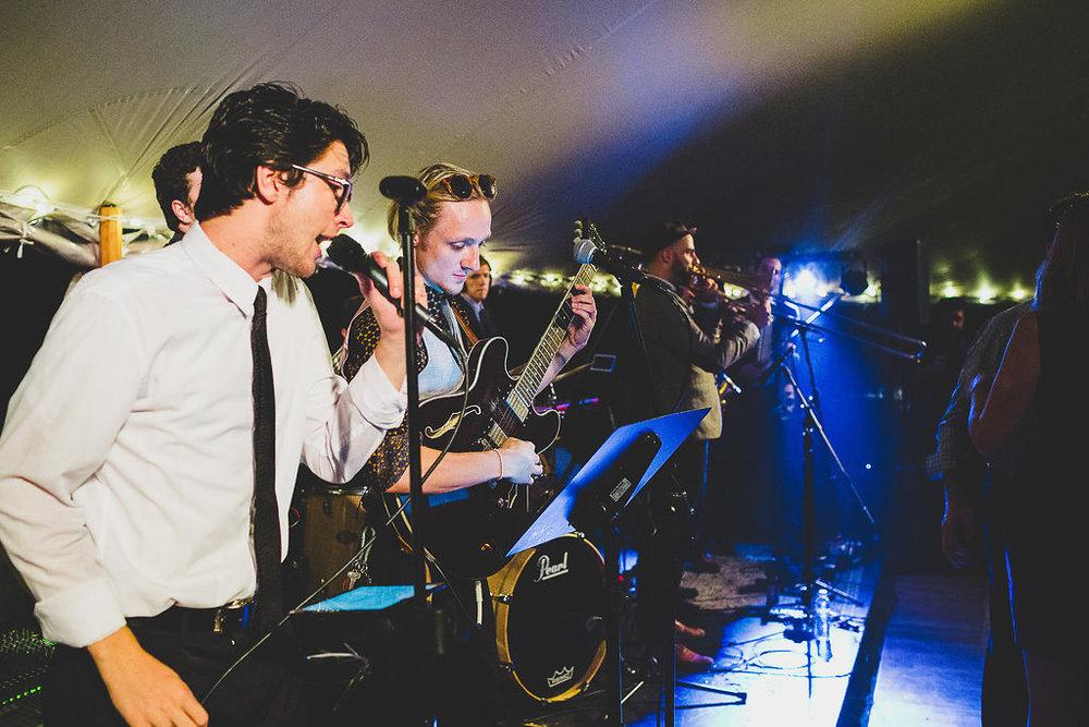 Silver Arrow Wedding Band playing reception in Martha's Vineyard | cassiecastellaw.com