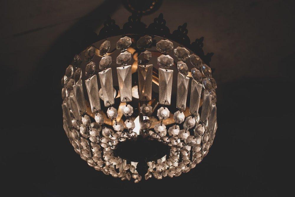Art deco gold chandelier in The Bells Theatre. Restore the Bells Theatre! - bit.ly/bellstheare