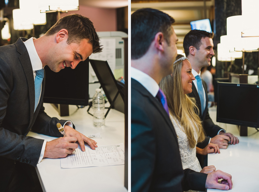 signing marriage license at city hall in nyc