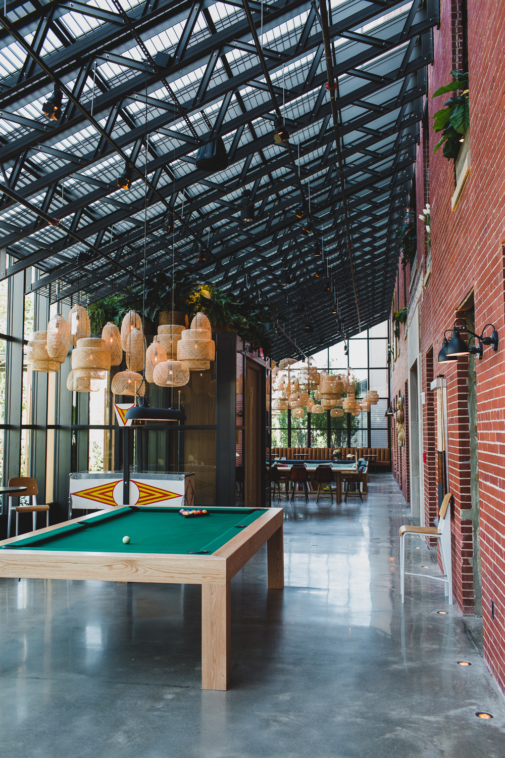 The Asbury Hotel lobby with pool table | blog.cassiecastellaw.com
