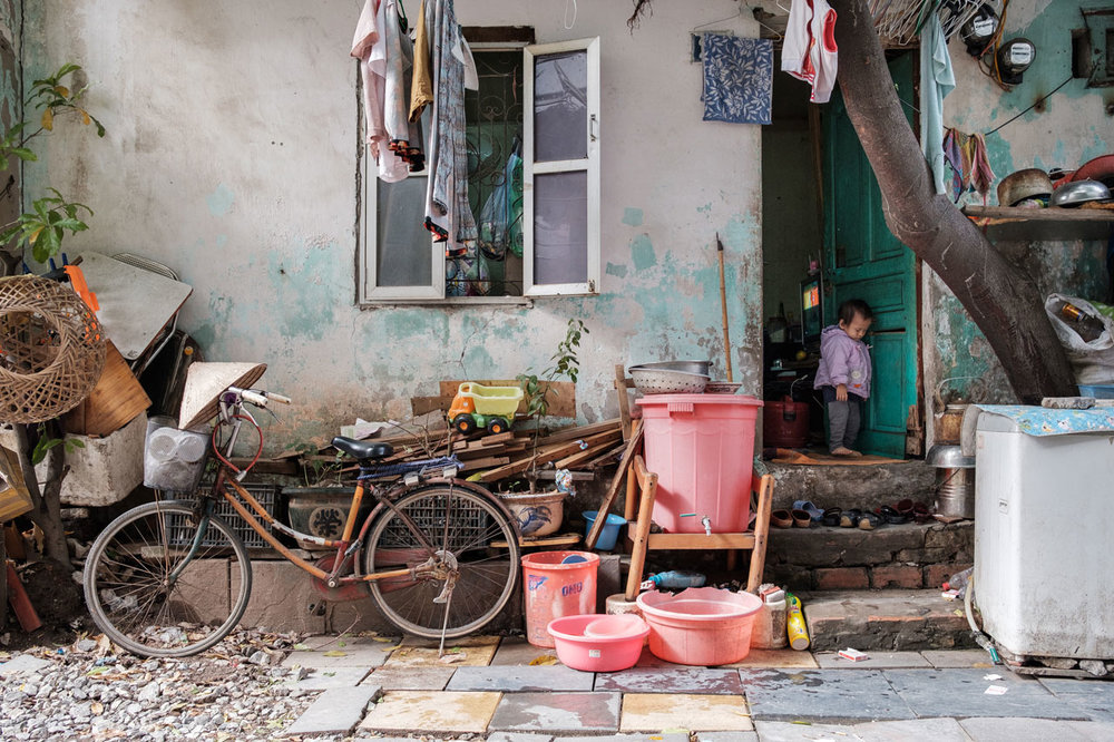 outside vietnamese home in hanoi