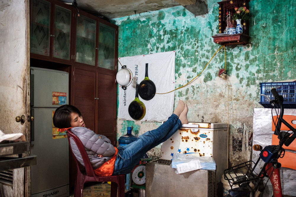 inside vietnamese home in hanoi