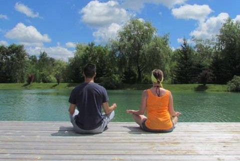 Meditating at a Beautiful Yoga Meditation Retreat