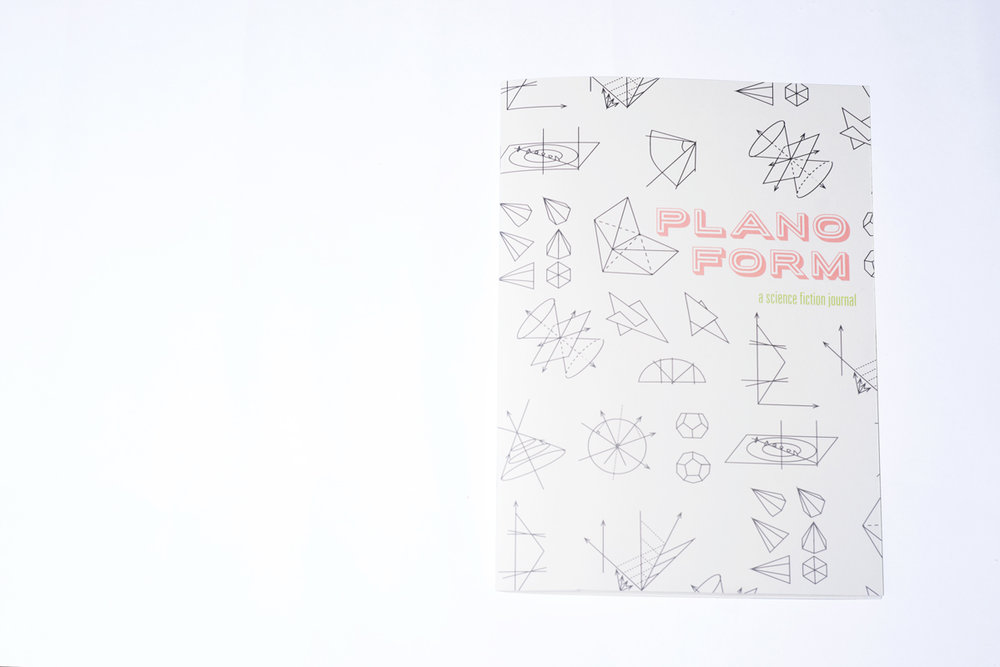 Planoform is an art and literary magazine that has a science fiction theme. The design incorporates both fields to create a visual narrative throughout the booklet. All the artwork and writing is attributed on the  Reference page in the back.  Click  here  to read.