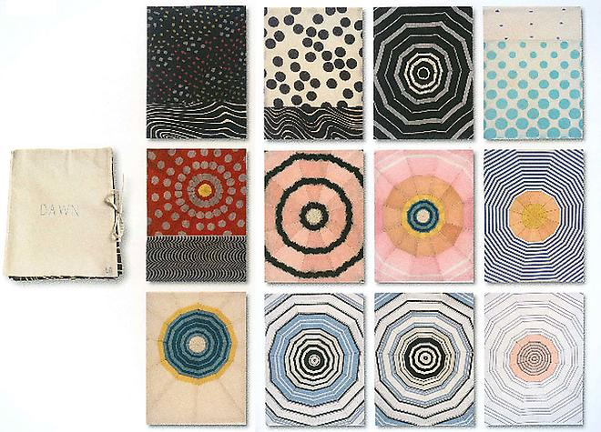 Dawn , Fabric portfolio with 12 fabric collages, 2006.