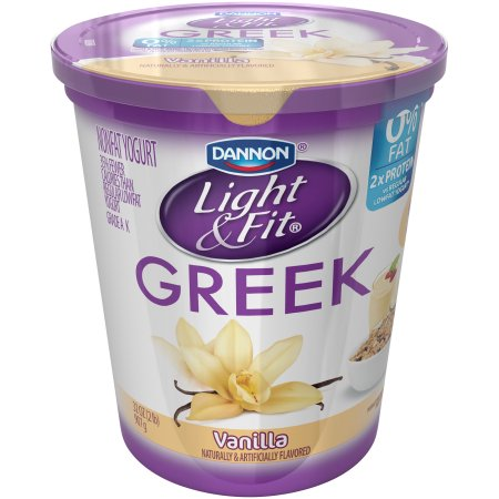 Perfect Dannon® Light U0026 Fit® Greek Blended Nonfat Yogurt Vanilla 32oz Quart Images