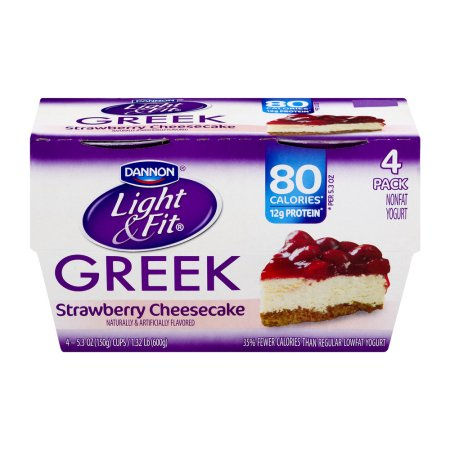 Dannon® Light U0026 Fit® Greek Blended Nonfat Yogurt Strawberry Cheesecake  5.3oz 4 Pack