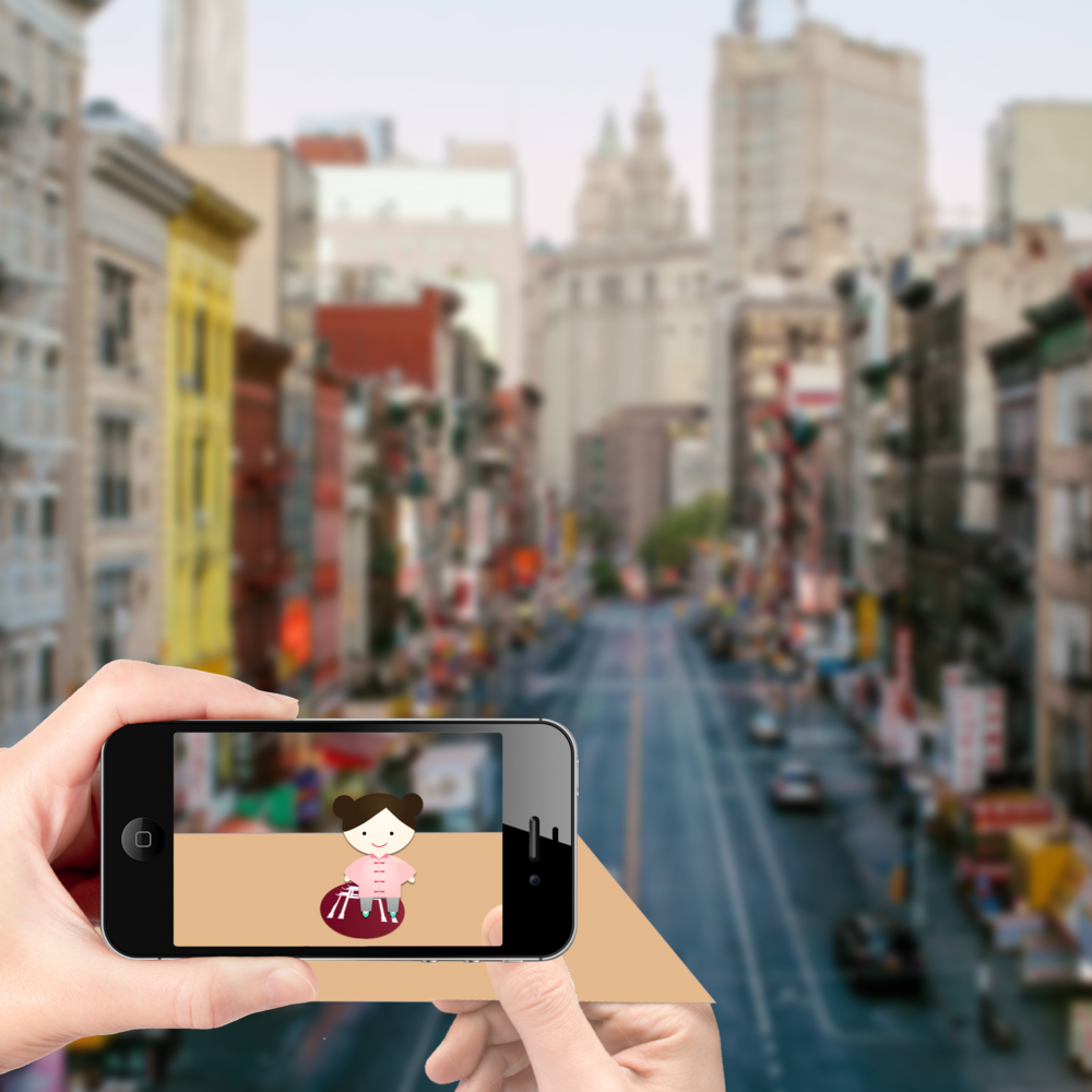 Chinatown ARTour - Augmented Reality, UX research, Unity+Vuforia
