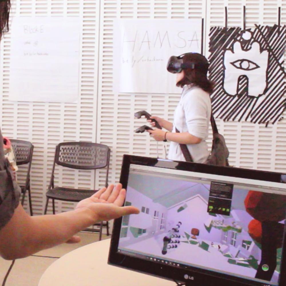 HAMSA - Virtual Reality, 3D design, Unity+HTC vive+leap motion