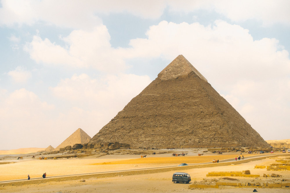 Pyramids of Giza // Cairo, Egypt // Photo Credit: Peter R.