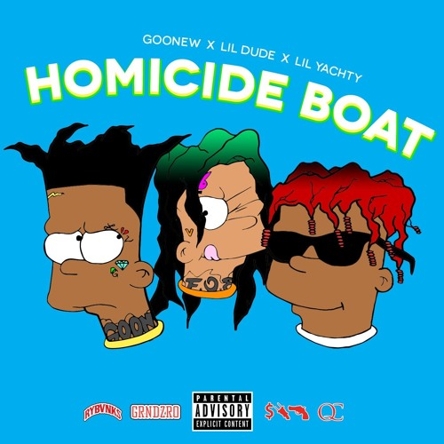 """produced """"Homicide Boat"""" by Lil Dude, Goonew, and Lil Yachty, single track"""