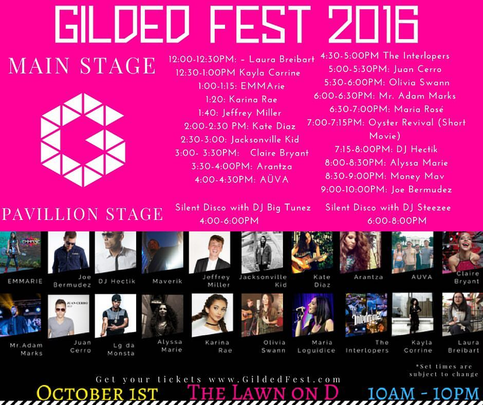 Claire Bryant, 9/16-11/16, Gilded festival, Middle East, and House shows, background vocalist, gig.