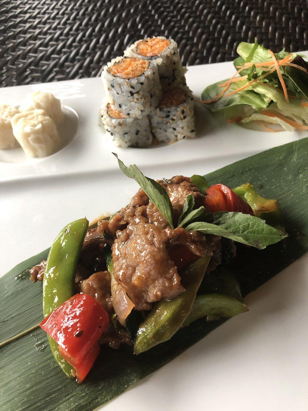 Thai Basil Beef Bento