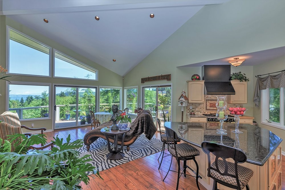 open floor plan, custom home, port ludlow property