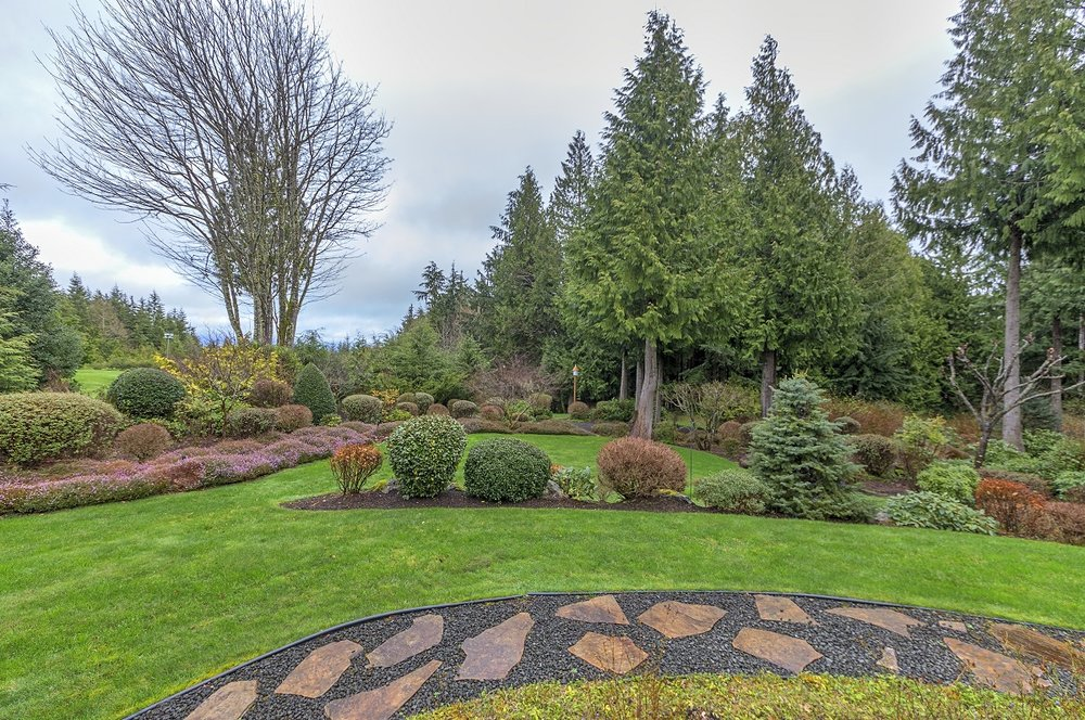 landscaping, port ludlow property, olympic peninsula