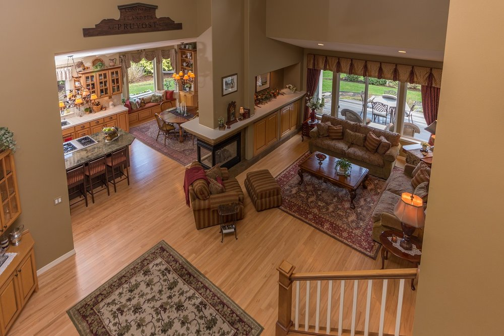 port ludlow, living area, custom home