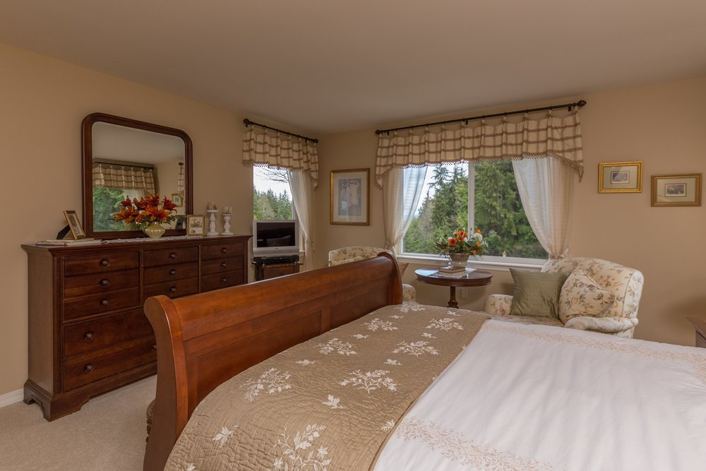 bedroom, port ludlow, custom home