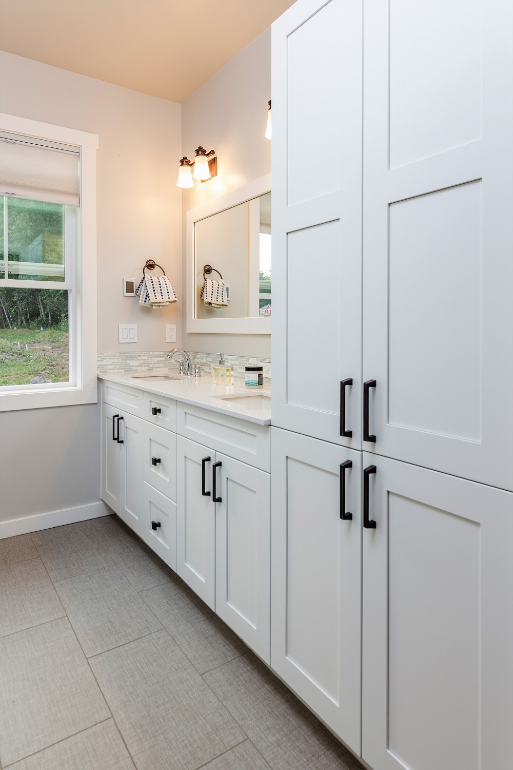 master bath, custom home, port ludlow property