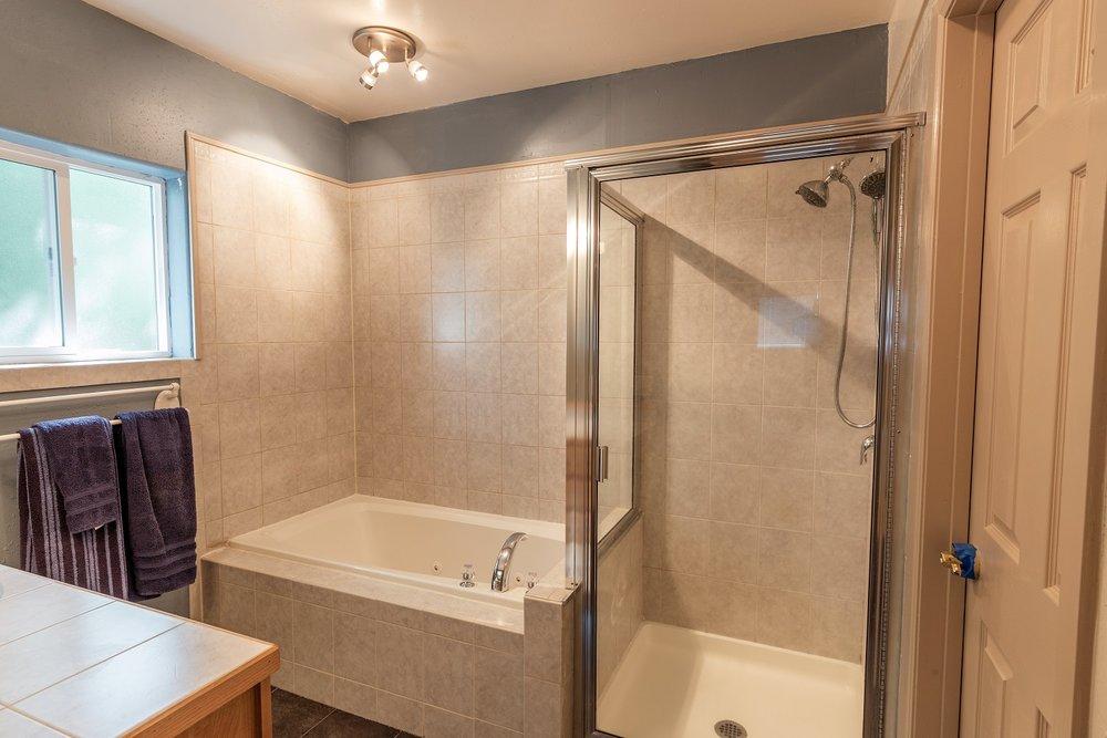 bathroom, shower, bathtub
