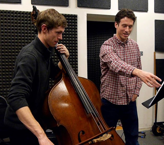 #bassist Nils Aardahl and composer Ben Morris create the sound world of the hermit with strange timbres #extendedtechniques #sulpontharmonicgliss?