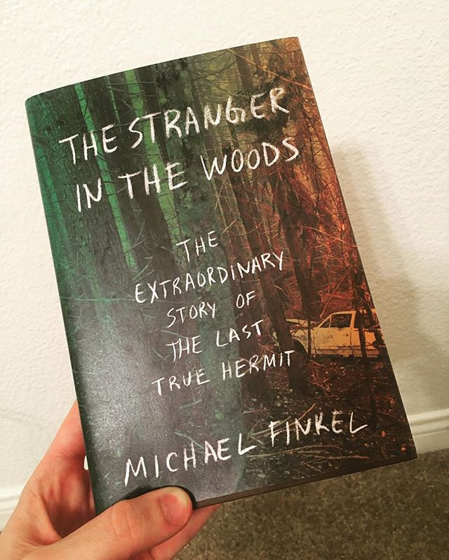 "Finally received Michael Finkel's book ""The Stranger in the Woods"" about the North Pond hermit, who is the subject of North Pond - A Musical. We're looking forward to reading this! #hermit #newmusical"