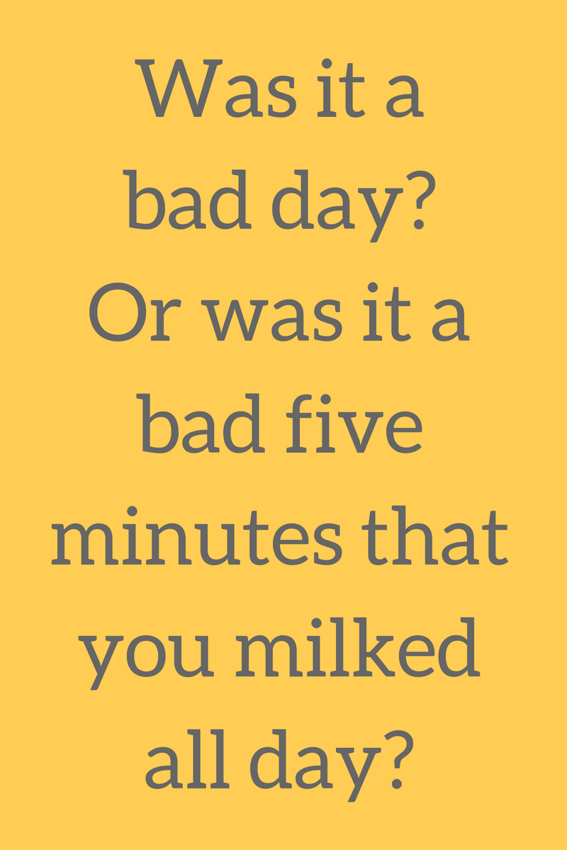 Susan Carroll Life Coaching Did You Really Have A Bad Day Or
