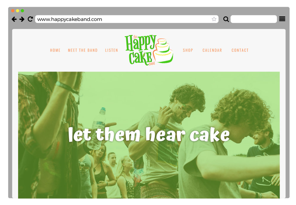 *side note:  www.happycakeband.com  is actually available