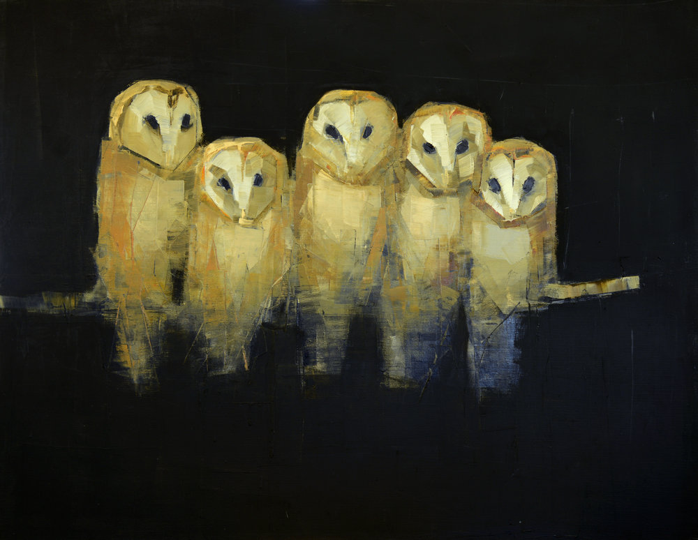 ROOST   -PRIVATE COLLECTION-  42 x 54 inches  oil and wax on linen