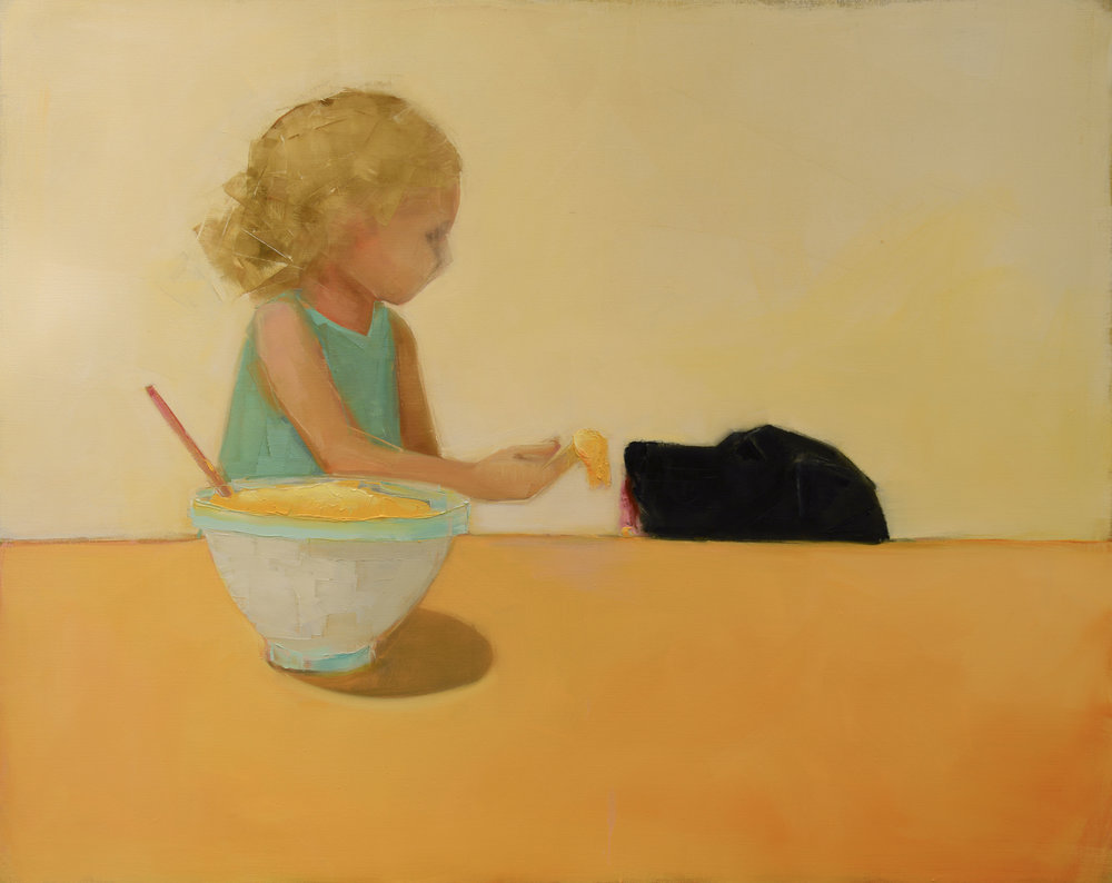 CAKE BATTER NO. 2   -PRIVATE COLLECTION-  40 x 68 inches  oil and wax on linen