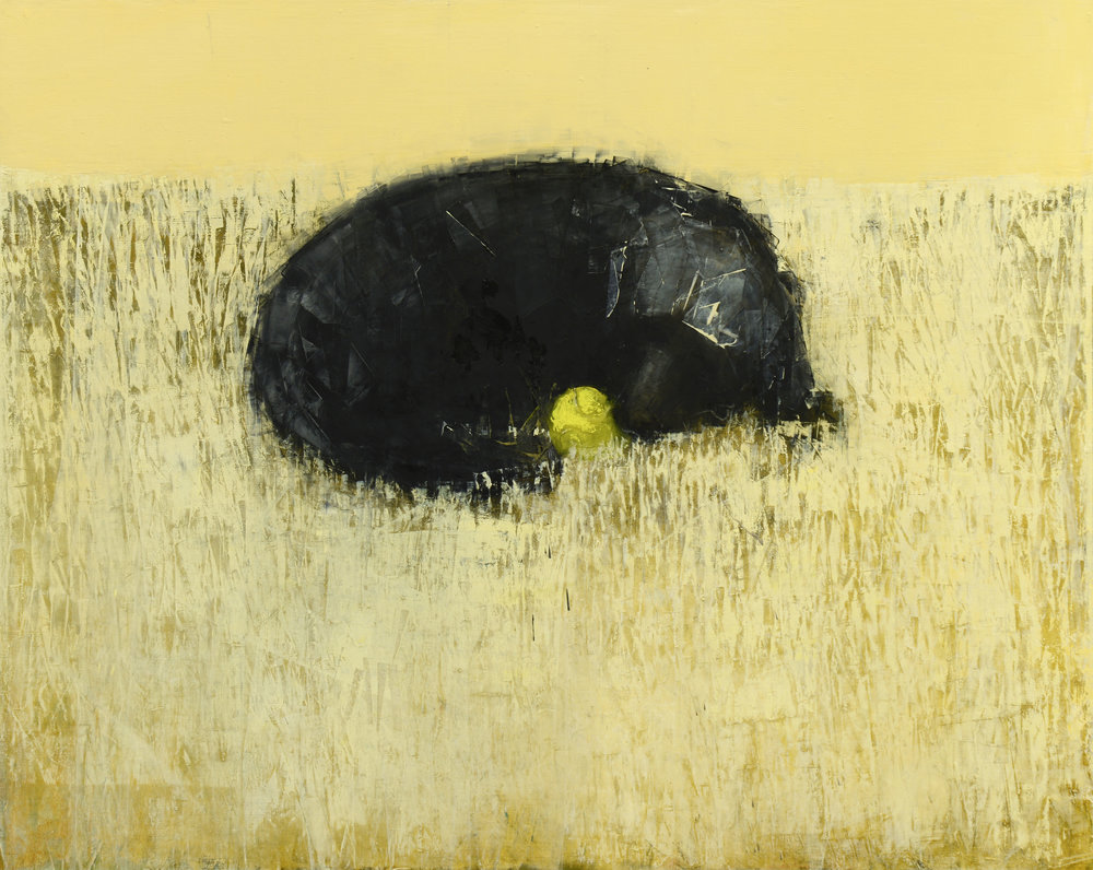 Rebecca Kinkead BLACK DOG DREAMING (IN SGAH)_48X60.JPG