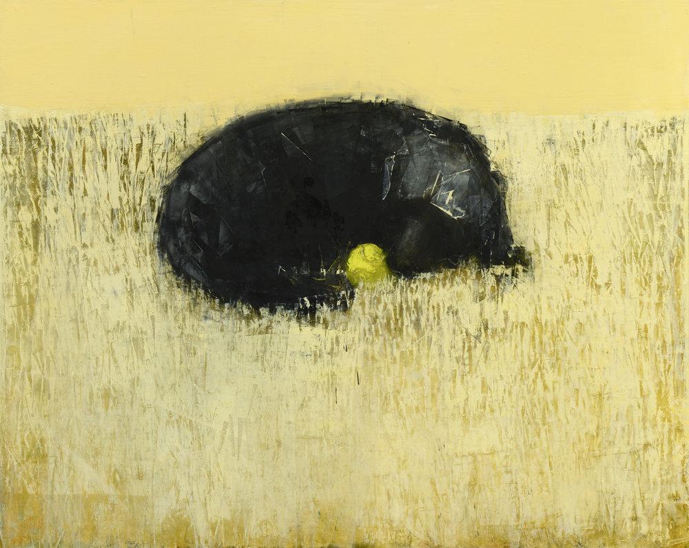 Rebecca Kinkead BLACK DOG DREAMING (IN SGAH)_48X60.JPG