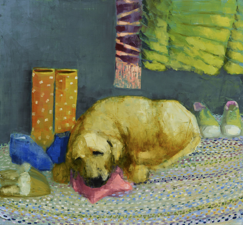 Rebecca Kinkead Yellow Dog Dreaming (Mud Room)_42 x54.jpg