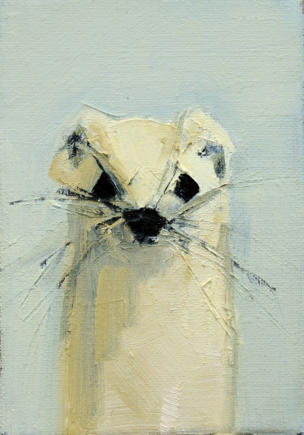 ERMINE NO. 2   -PRIVATE COLLECTION-  7 x 5 inches  oil and wax on linen