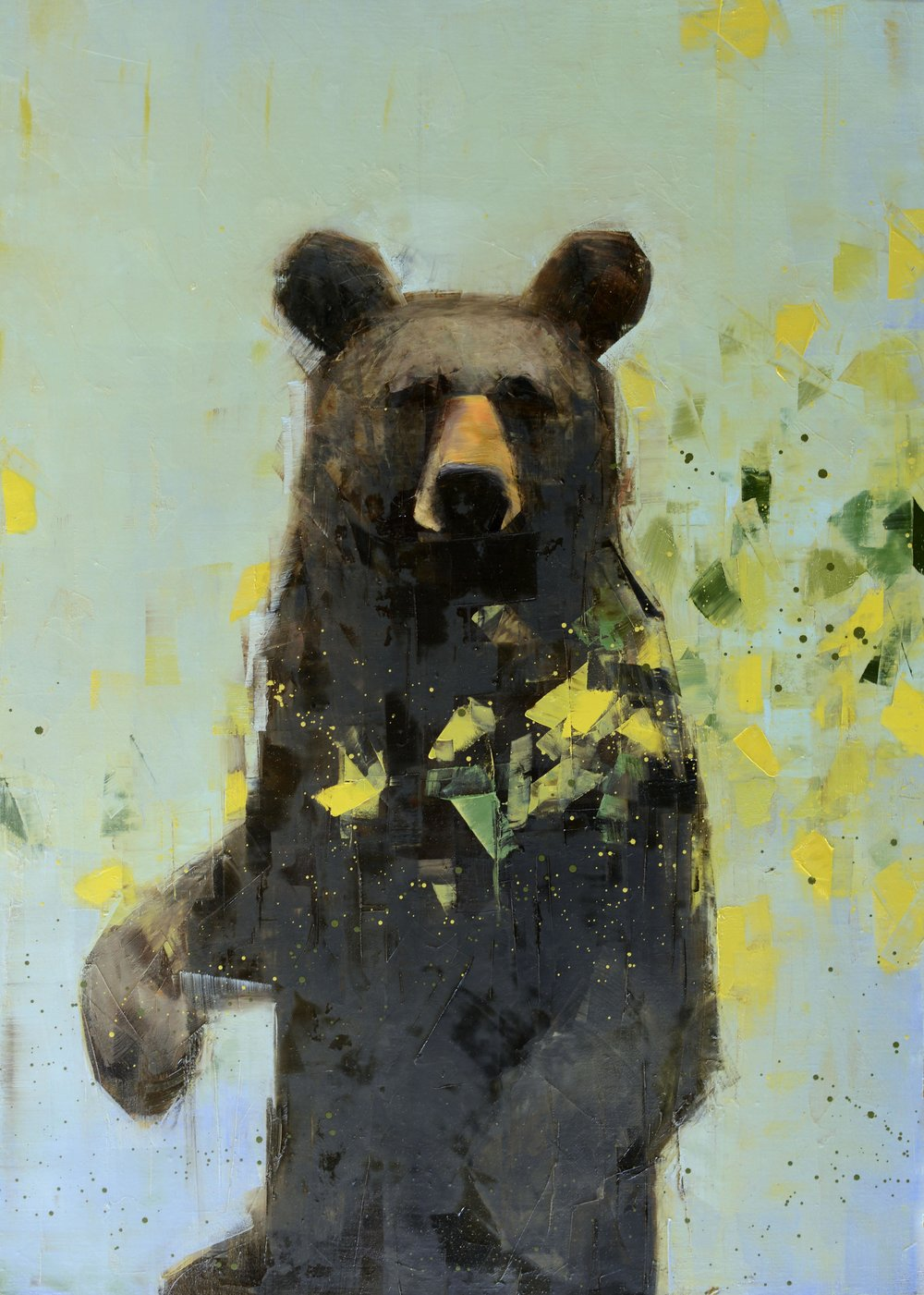 Black Bear Contemplating Spring_48x36.jpg