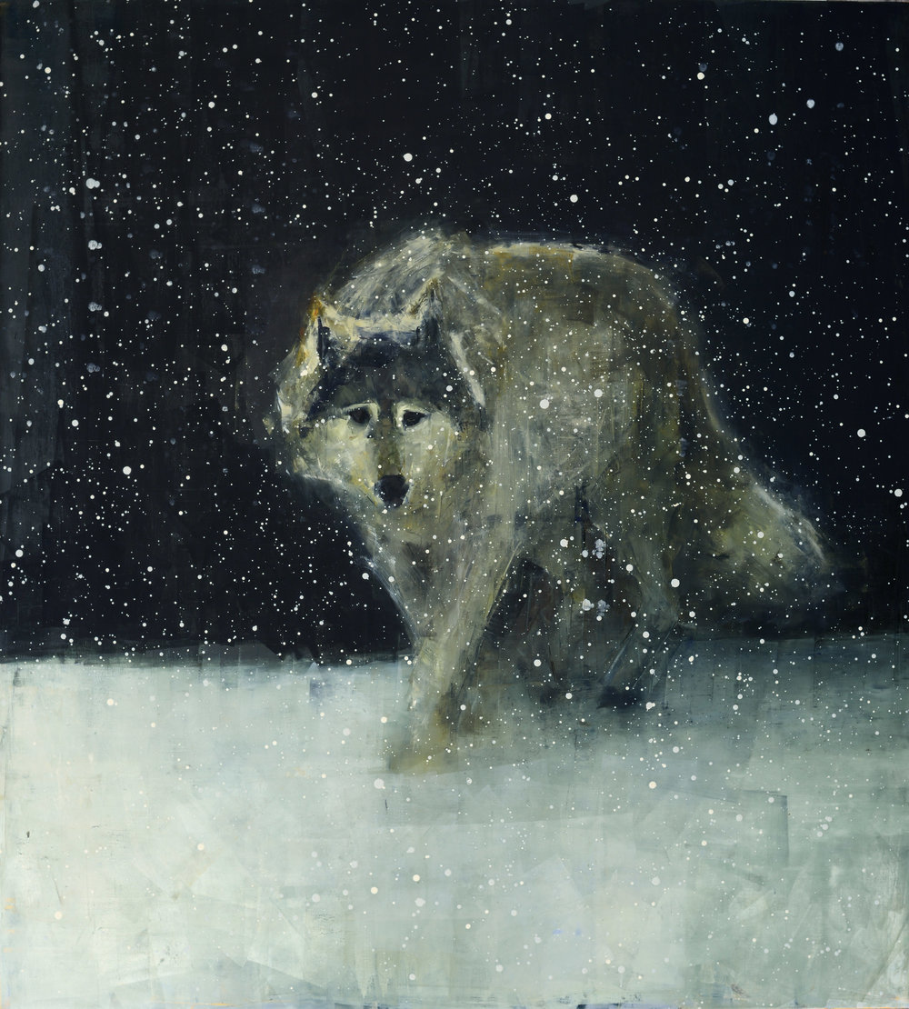 Grey Wolf (Deep Snow)_64 x 58%22.jpg