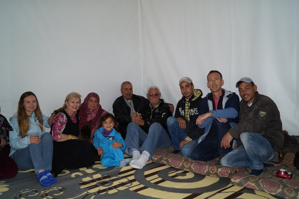 The first family that I visited in a refugee camp in the Bekaa Valley.