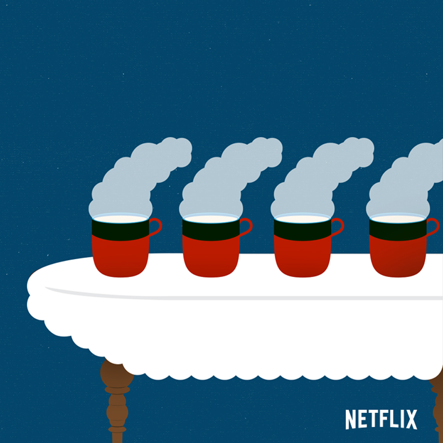 Only two things in life are certain, death and teatime. Downton Abbey now on Netflix.