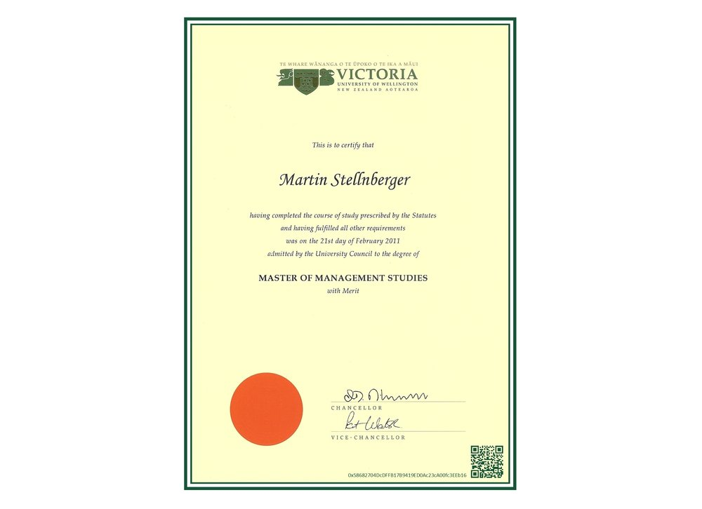 Document Certification Through The Blockchain Martin Stellnberger