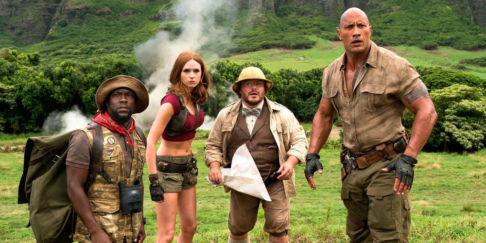 Kevin Hart, Karen Gillan, Jack Black and Dwayne Johnson star.