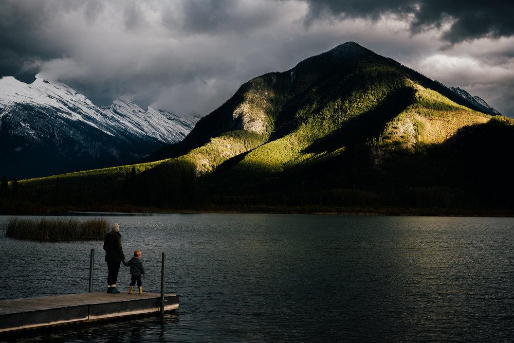 Banff vermillion lakes portrait