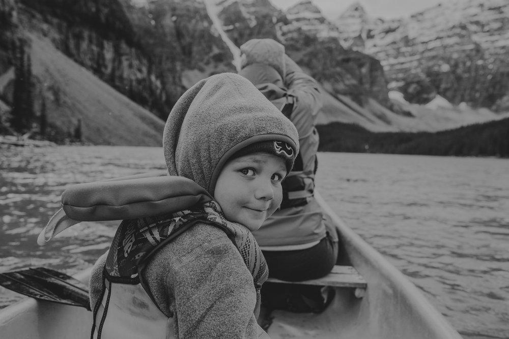 Moraine Lake Canoes portrait