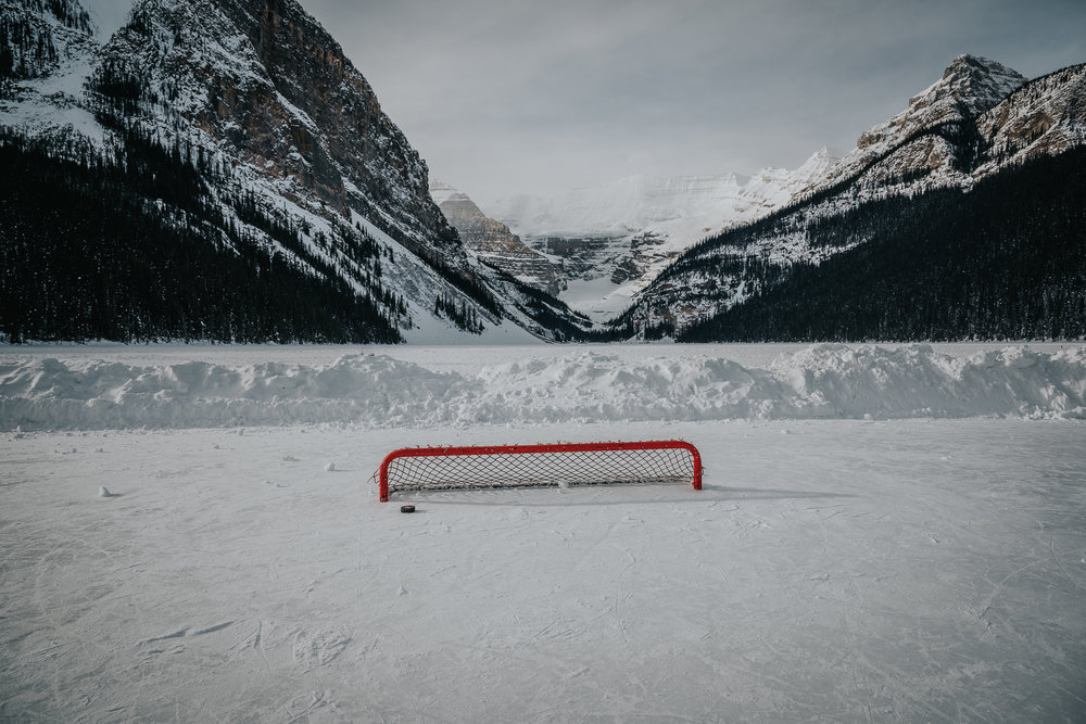 Lake Louise hockey rink