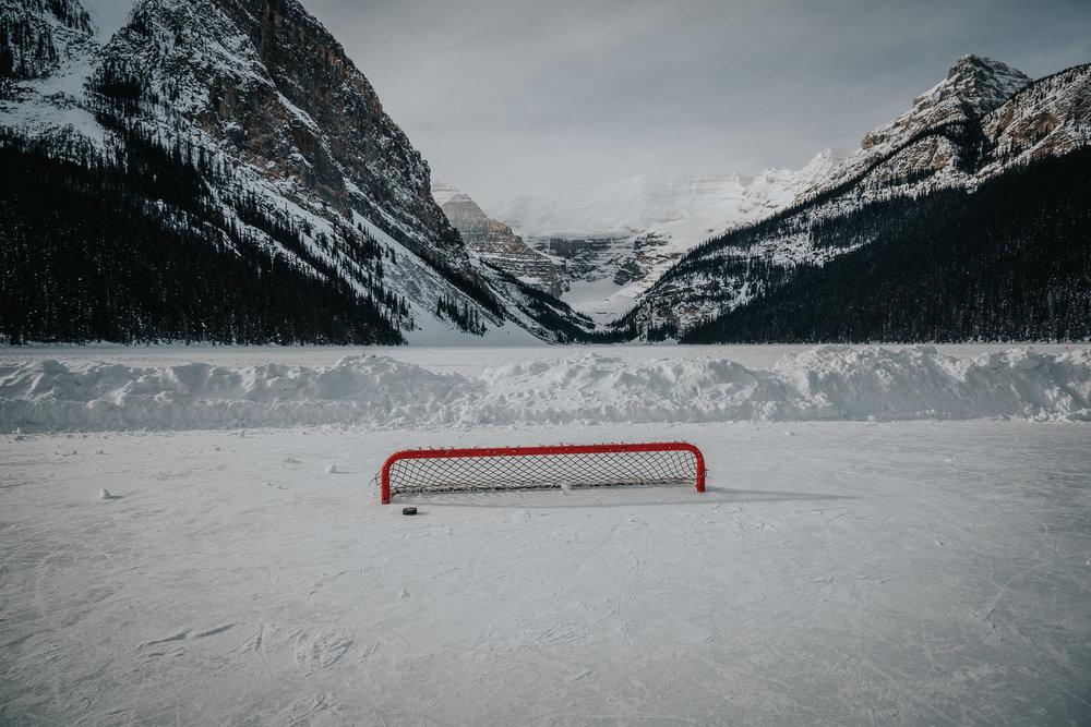 Lake Louise hockey rink