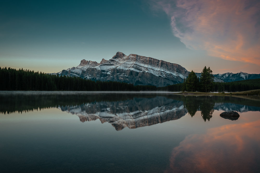Two Jack Lake sunrise