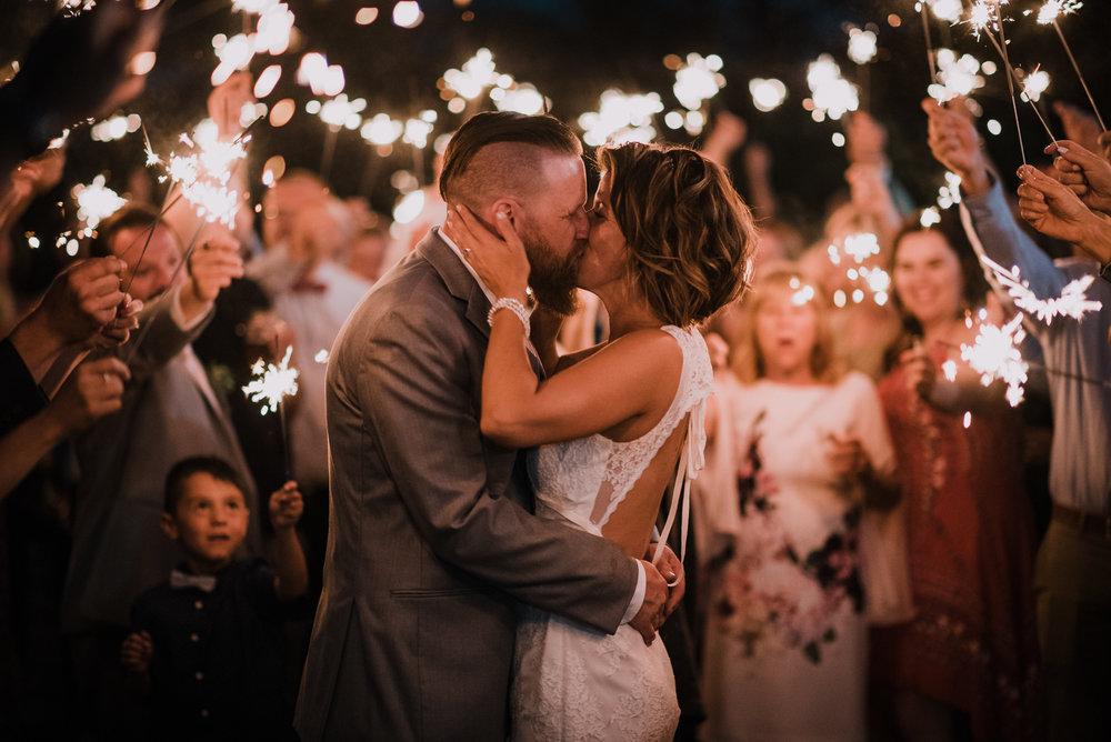 calgary wedding photographer sparkler exit