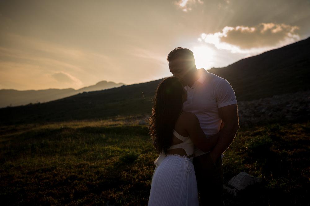 Kananaskis mountain engagement calgary wedding photographer banff wedding photographer