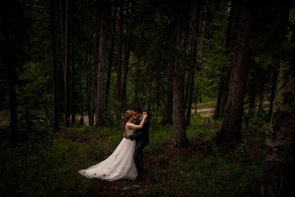 Rimrock Banff wedding calgary banff wedding photographer