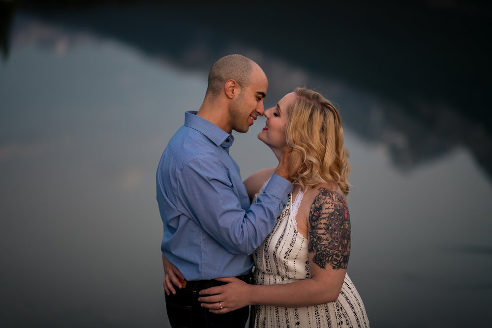 Canmore mountain engagement calgary banff wedding photographer connection